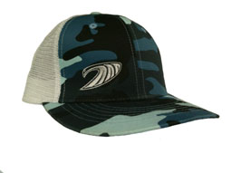 Camo Trucker Hat in surf camo