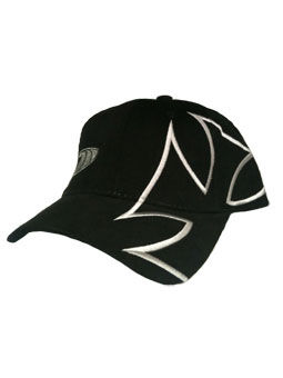 Iron Cross Hat with large iron cross in black