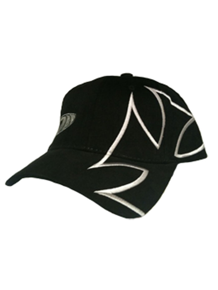 Surf Nazi Iron Cross Hat In Black With Large Iron Cross