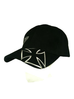 Iron Cross Hat with small iron cross in black