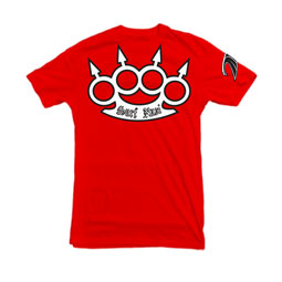 Spiked Brass Knuckles t-shirt in red