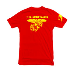 US Surf Nazis t-shirt in red