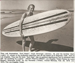 OG surf nazi from El Segundo, California, circa 1979